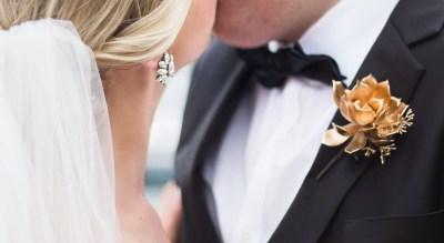 brighton wedding photographer gold groom button flower