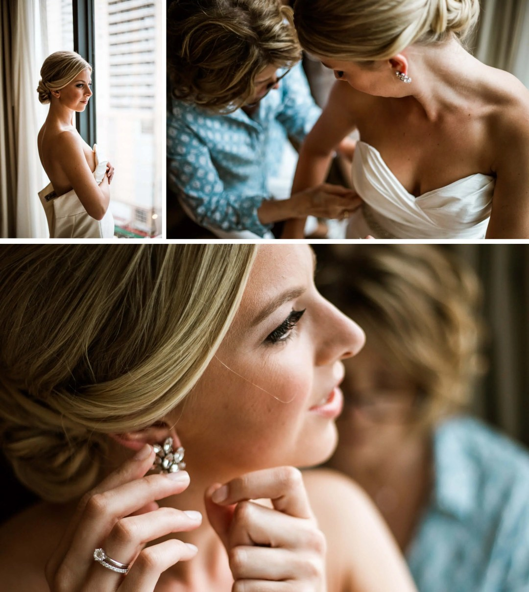 Palomar Hotel wedding bride getting ready - Wedding Photographer in Sussex