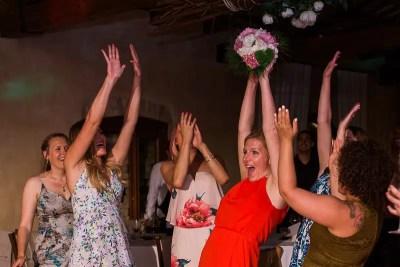 Fossa Mala Pordenone Destination Wedding Flower Toss