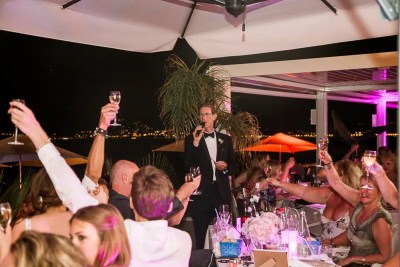 La Mairie Cannes Seafront Wedding Dinner Toasts