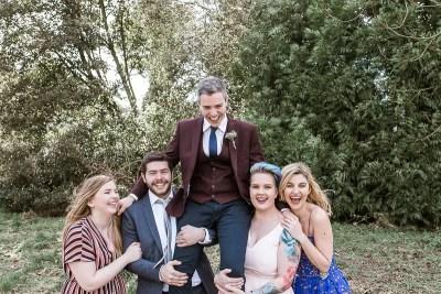 Stamner House Fun Group Wedding Photography