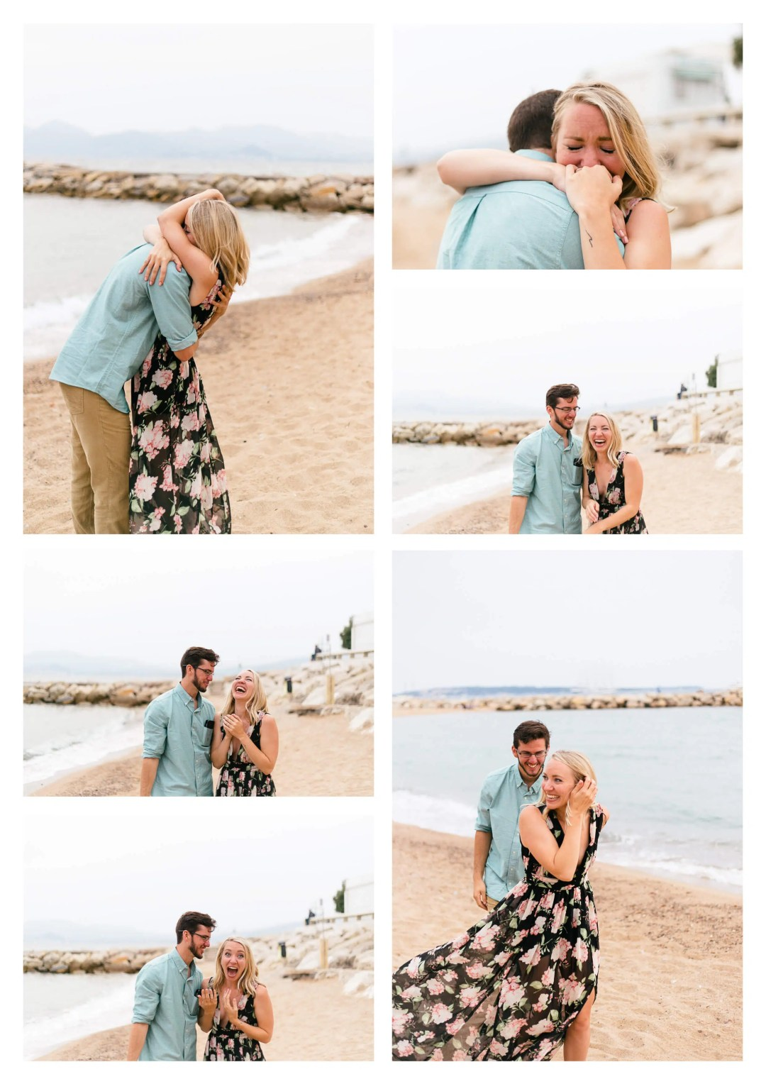 Cannes Emotional Suprise Proposal Engagement Photography