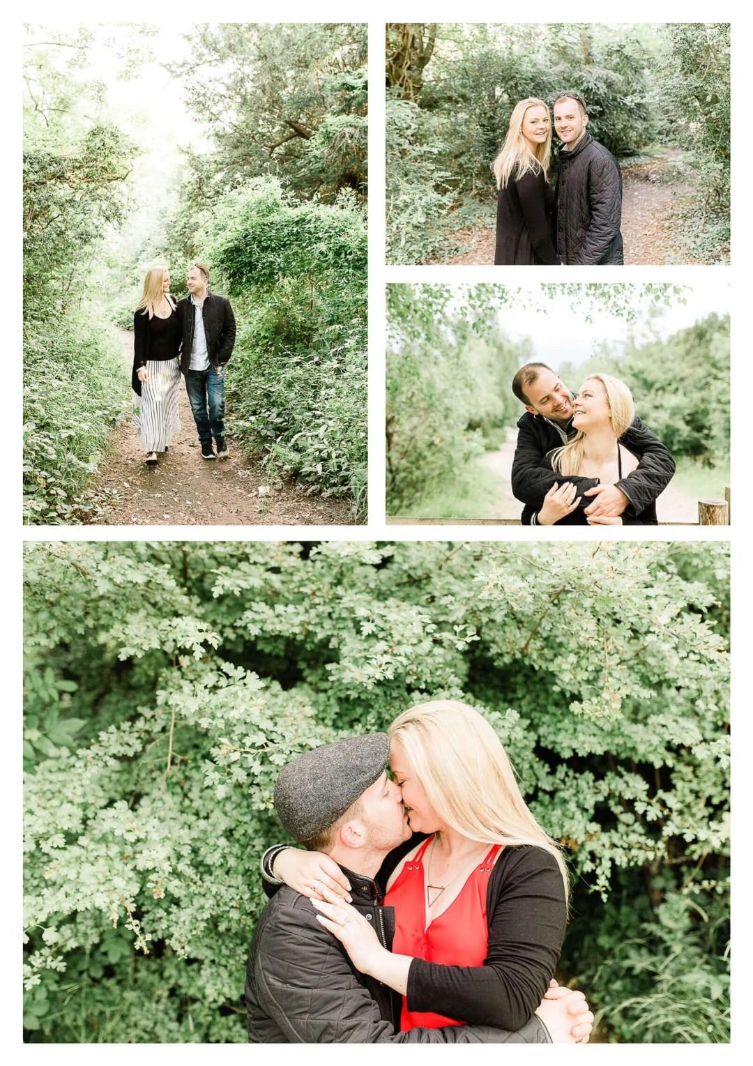 North Downs Box Hill couple engagement portrait   Surrey pre-wedding photographer