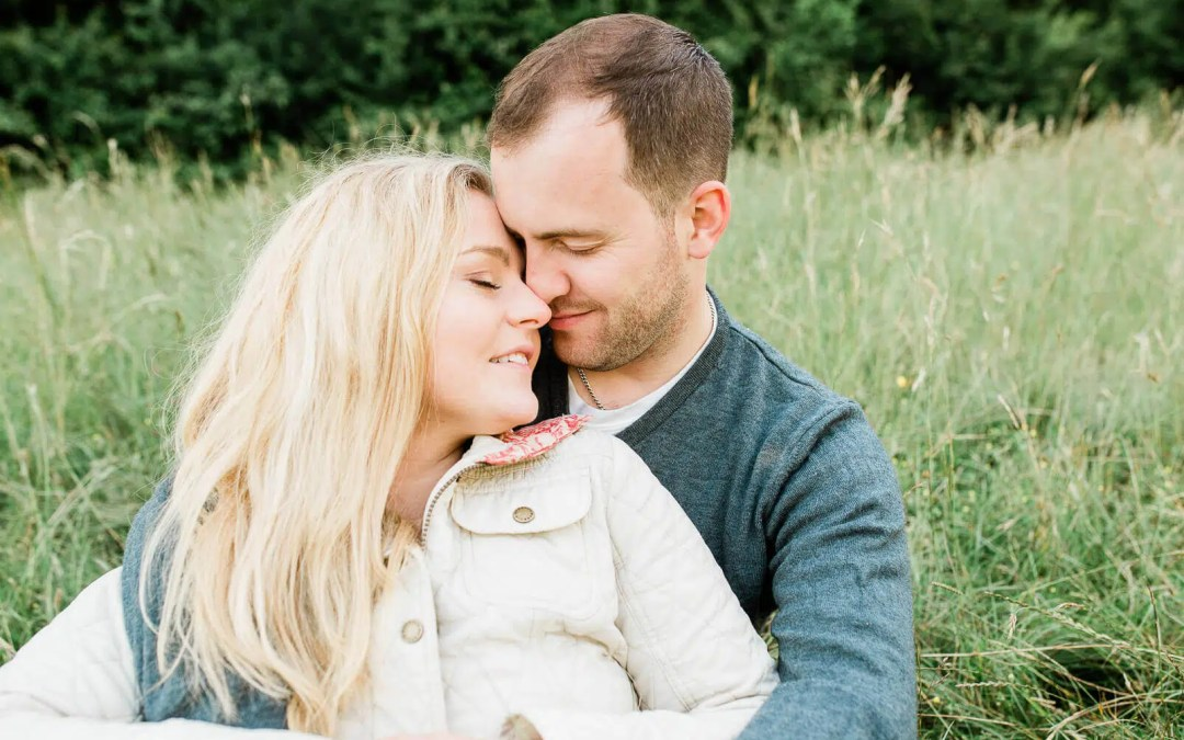 Box Hill Dorking engagement pre-wedding couple shoot | Surrey photographer