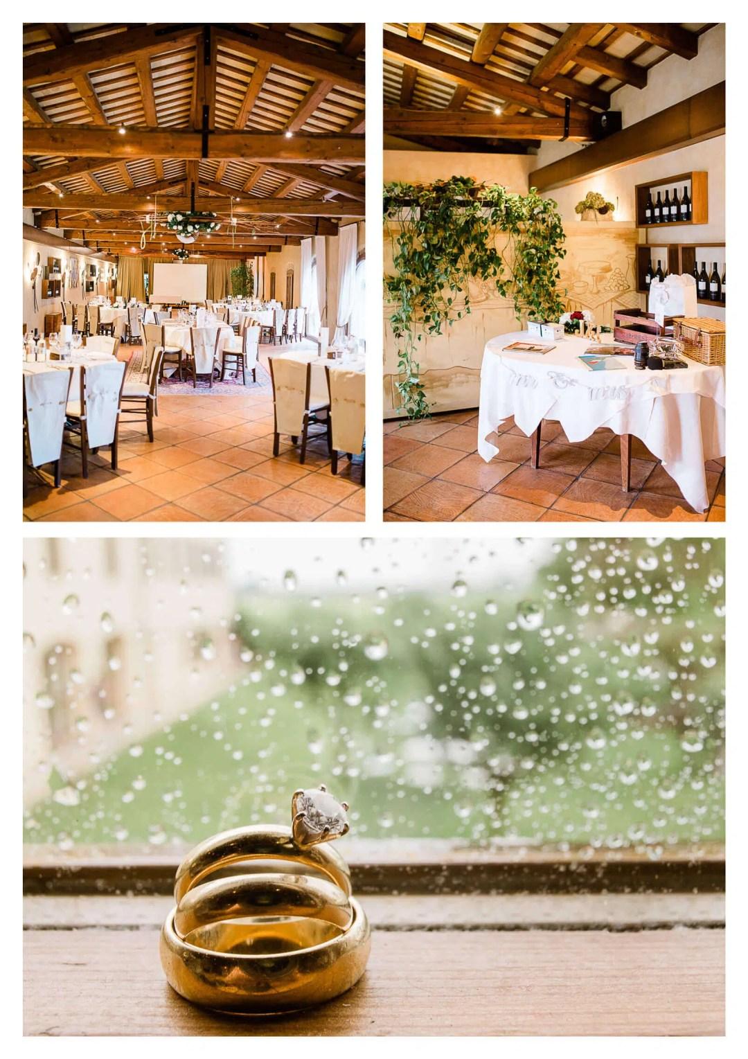 Fossa Mala wedding breakfast decor for reception | Pordenone destination photographer