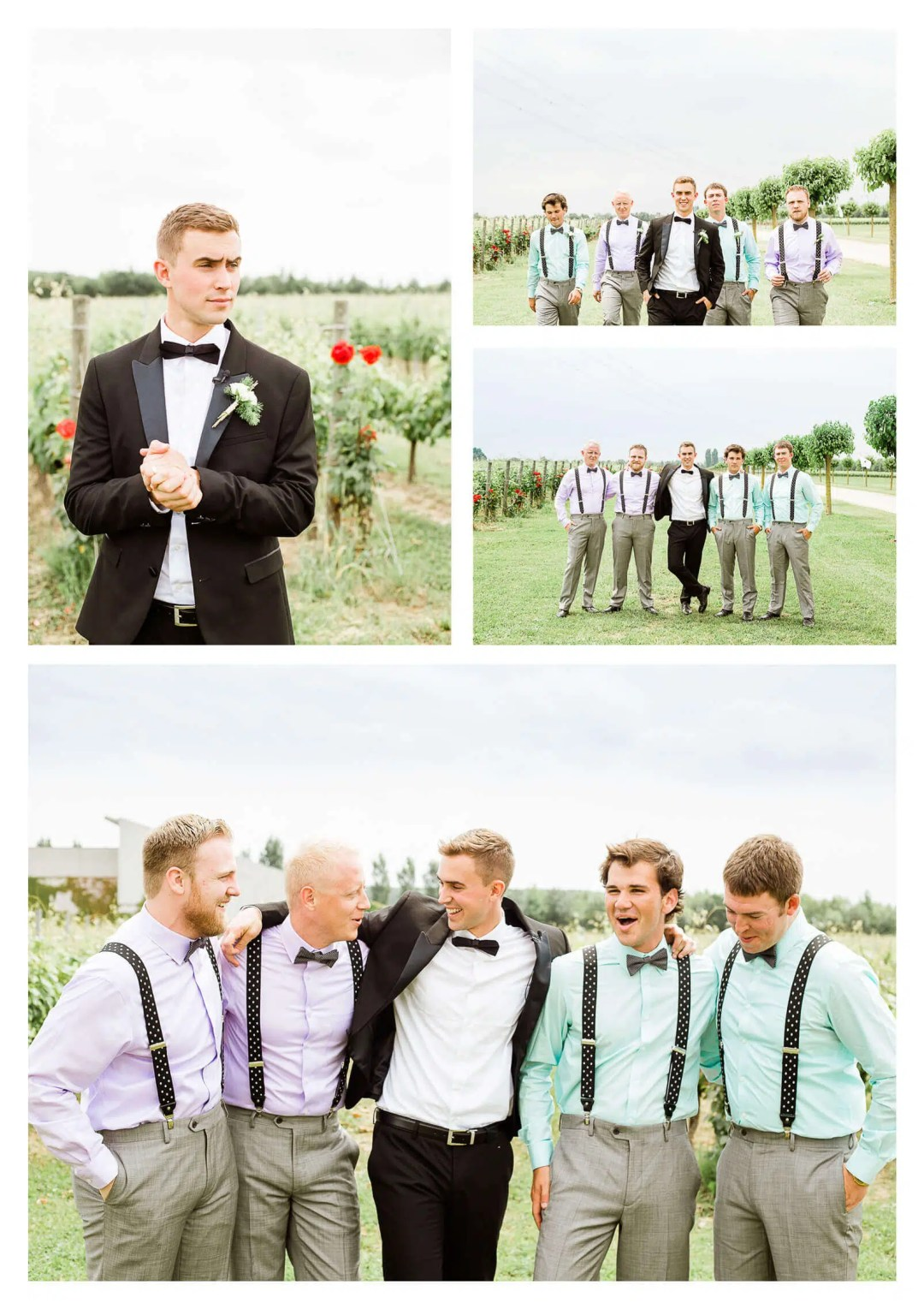 Groom with ushers at Fossa Mala in Italy | Pordenone destination photographer