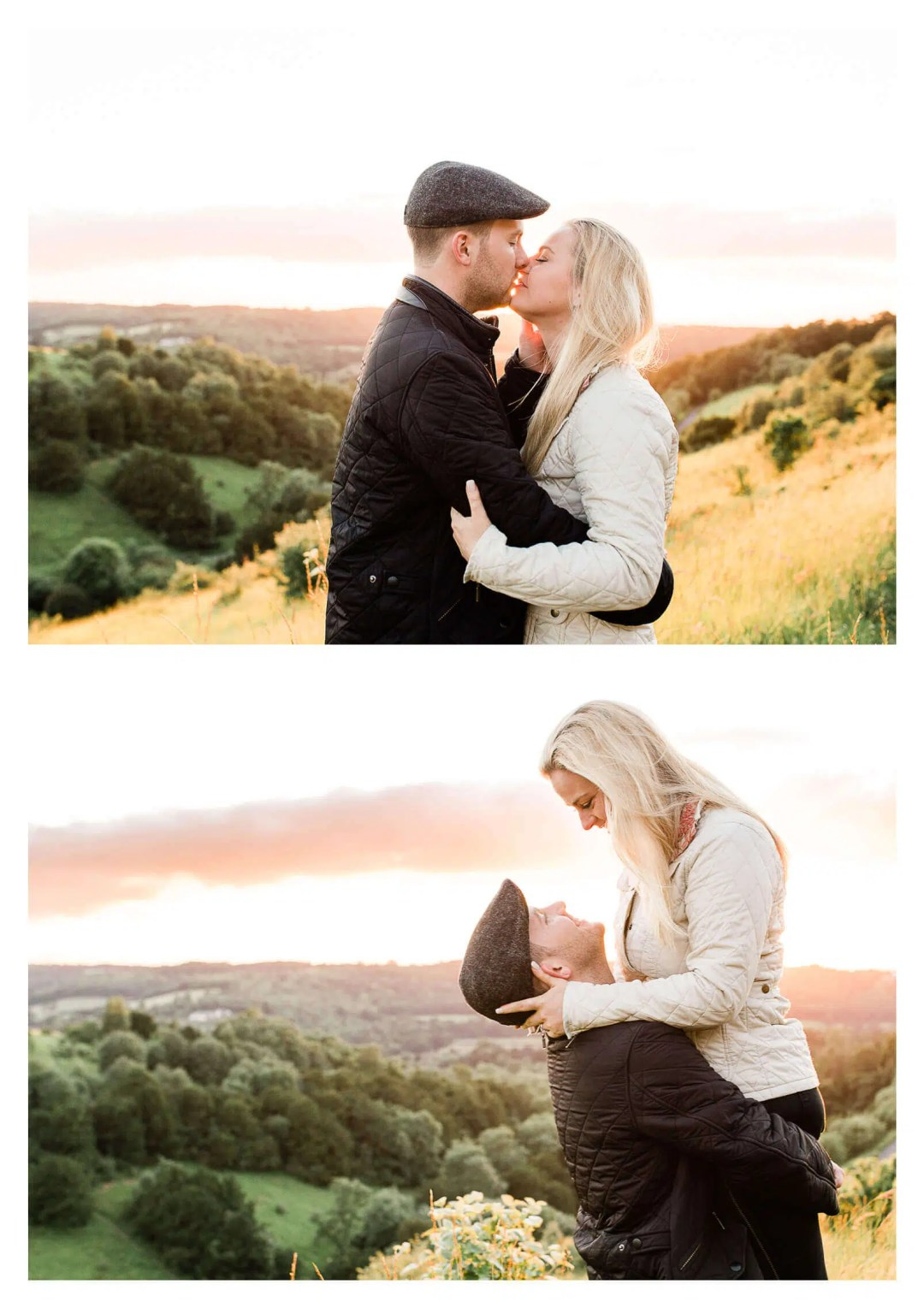North Downs Box Hill engagement shoot at sunset | Surrey pre-wedding photographer-