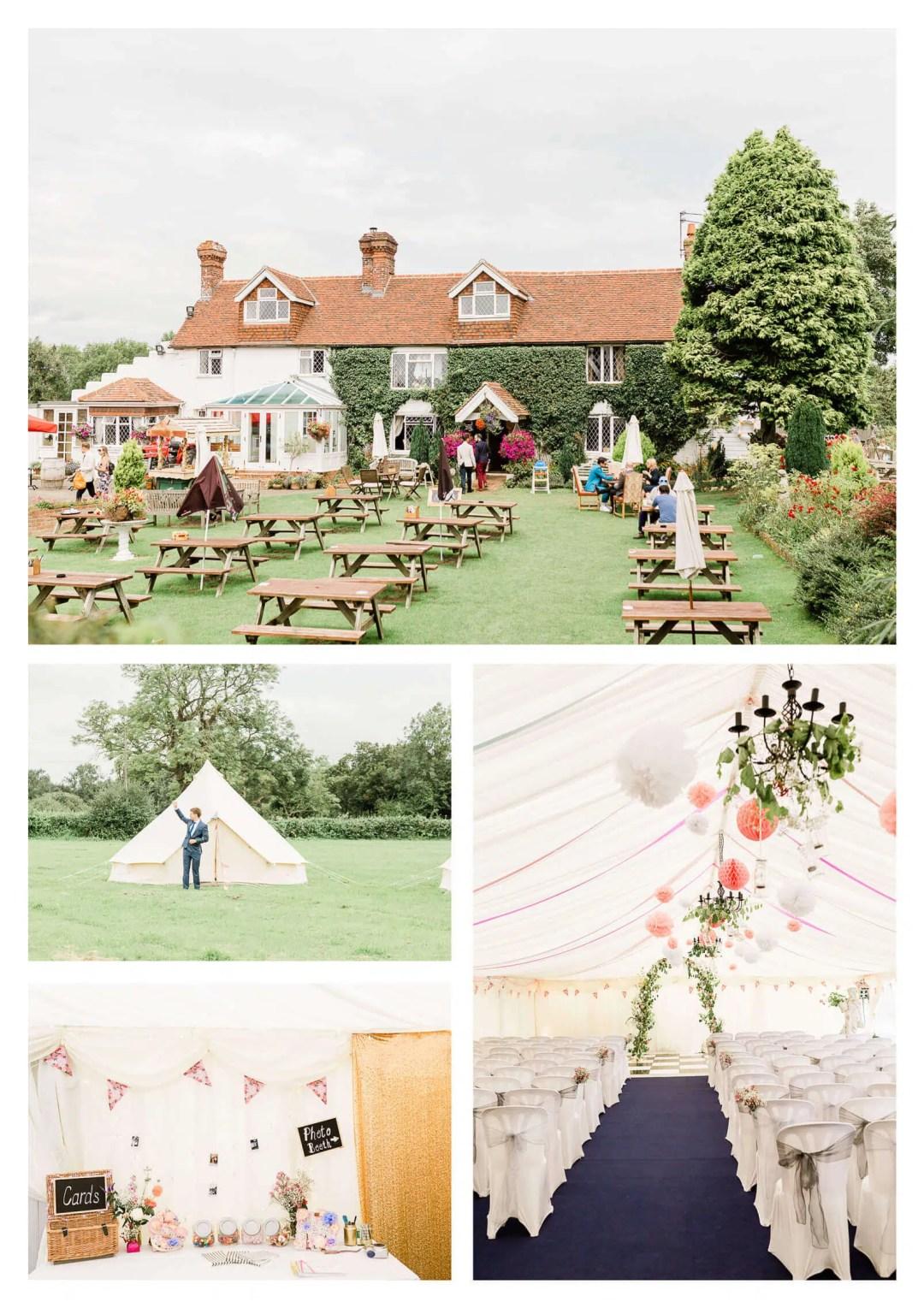 Anchor Inn wedding venue marquee | Lewes wedding photographer