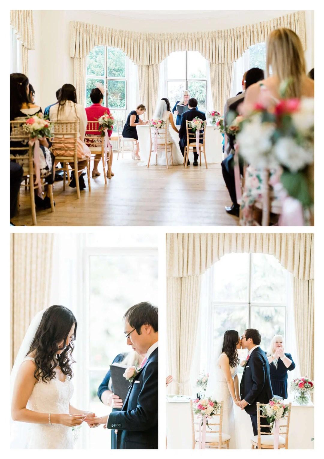 Cambridge Cottage wedding ceremony | Kew Gardens wedding photographer