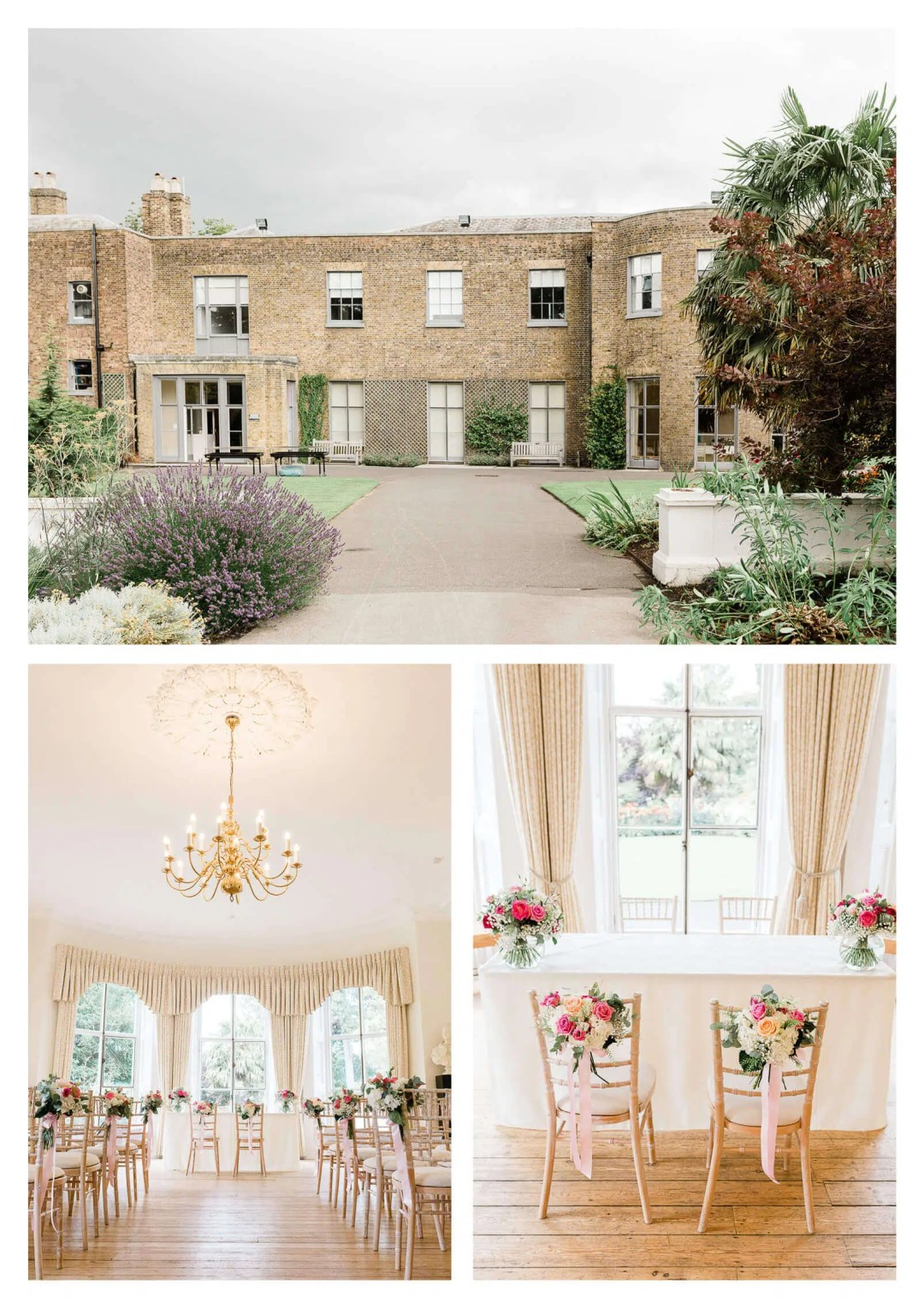 Cambridge Cottage wedding ceremony decor | Kew Gardens wedding photographer