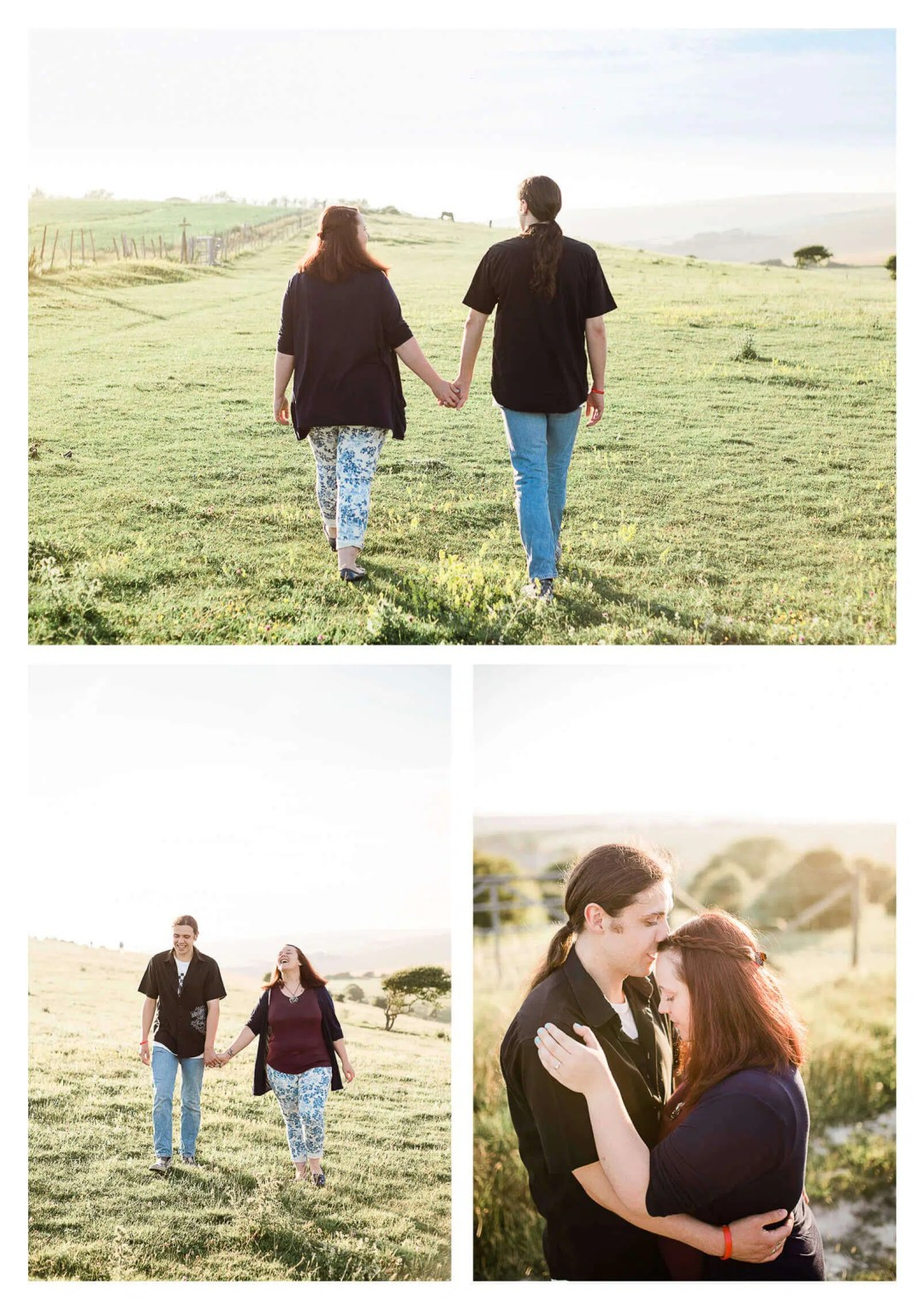 South Downs pre-wedding couple portraits in Newhaven | West Sussex wedding photographer