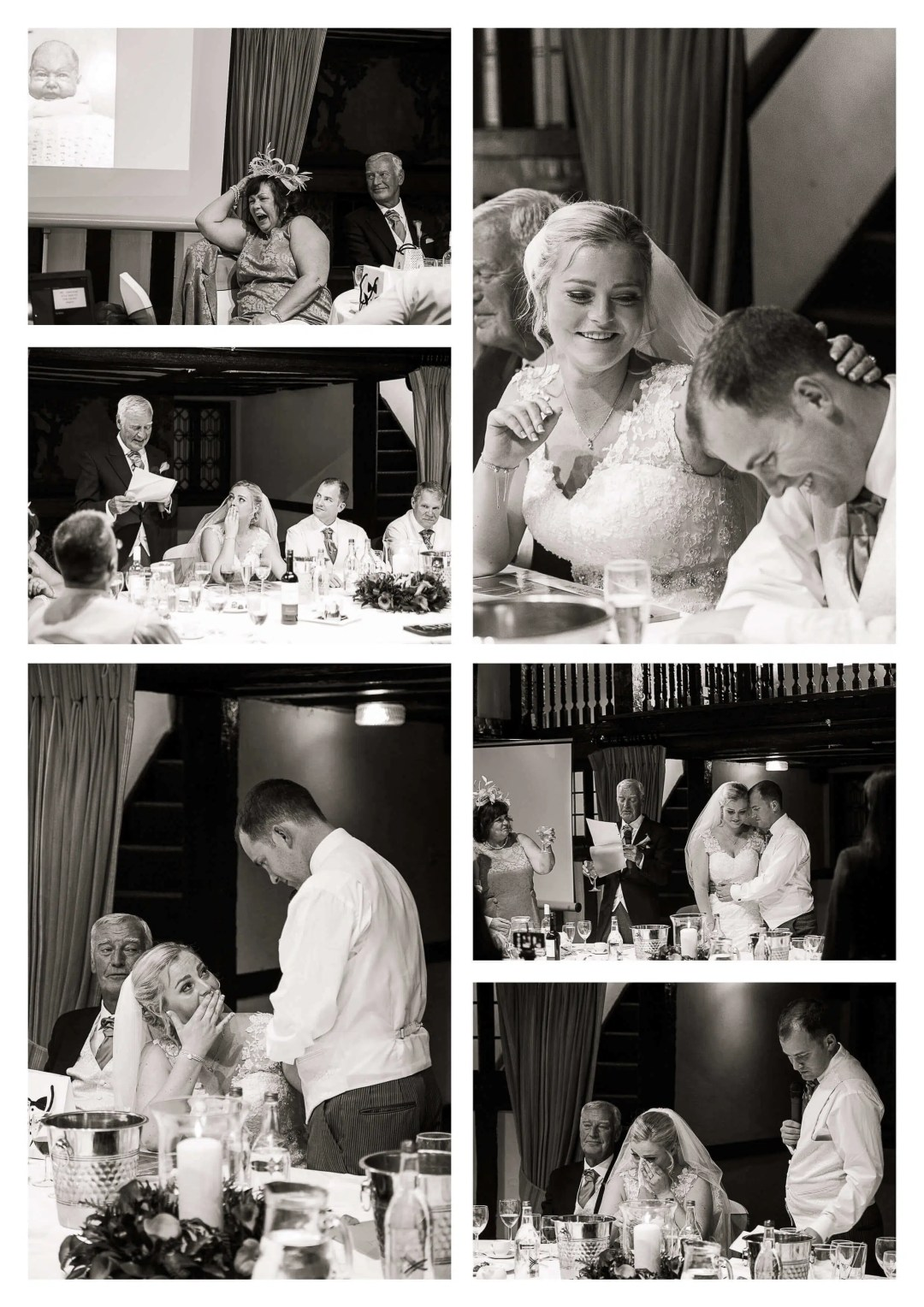 Tithe Barn Burford Bridge Hotel wedding breakfast toasts
