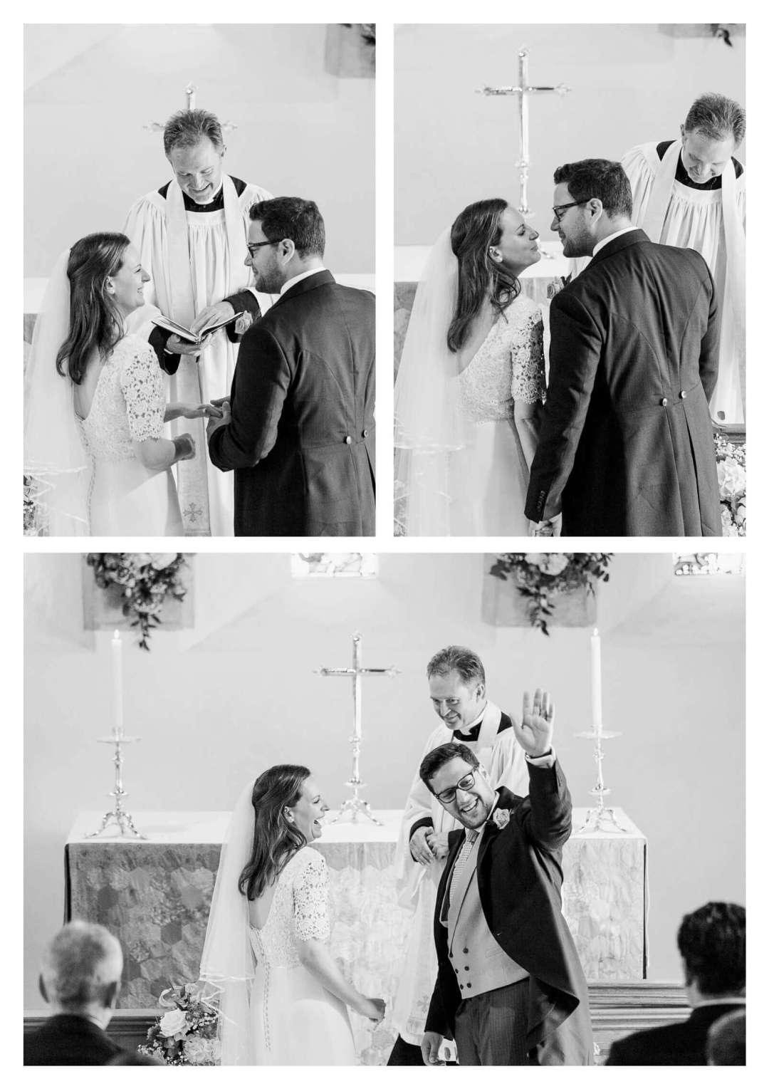 Wedding ceremony at St Nicholas Parish Church in Chichester | West Sussex wedding photographer