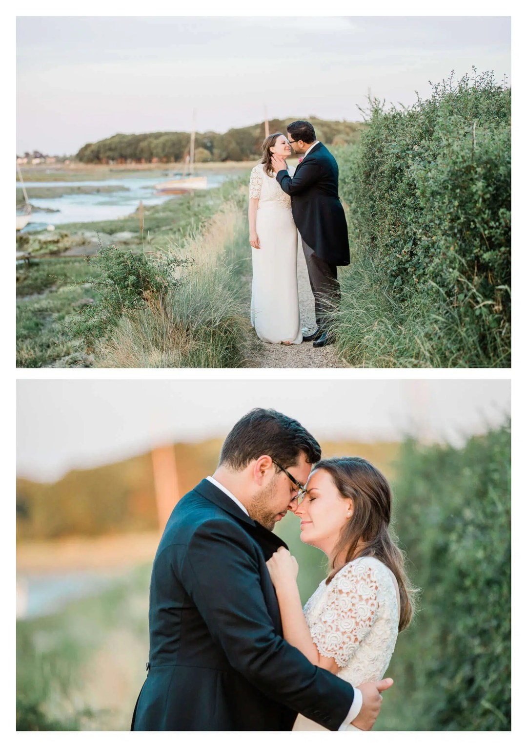 West Itchenor marshland wedding portraits | West Sussex wedding photographer