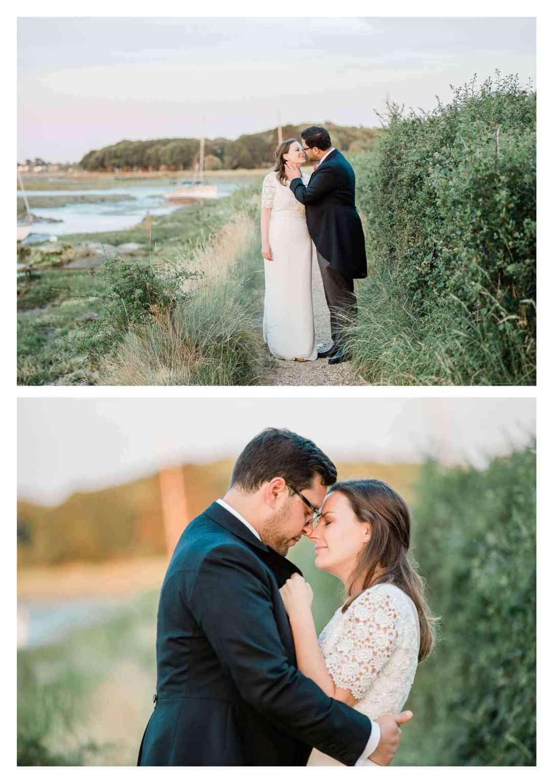West Itchenor marshland wedding portraits | West Sussex wedding photographer