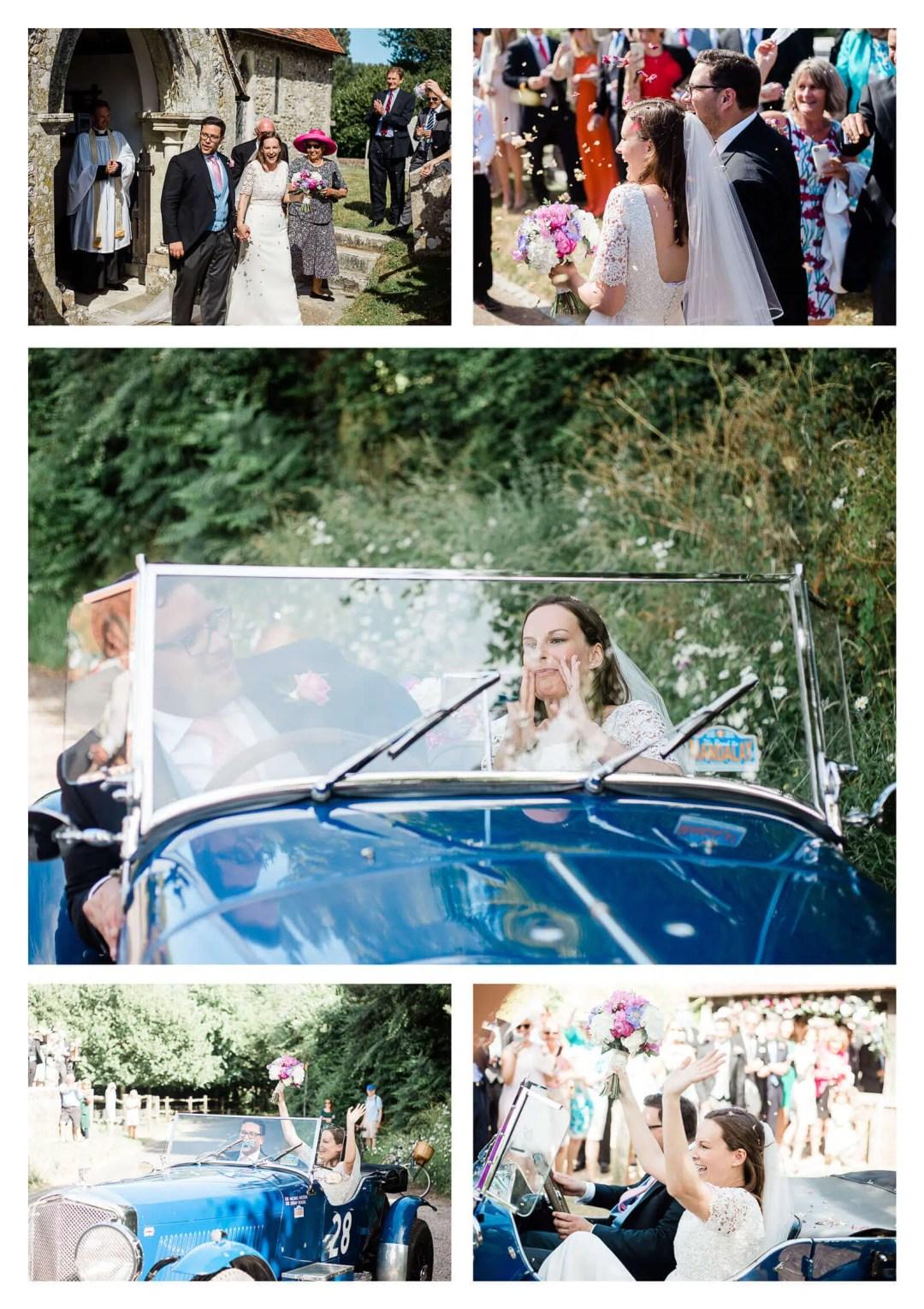 West Itchenor wedding vintage car | West Sussex photographer