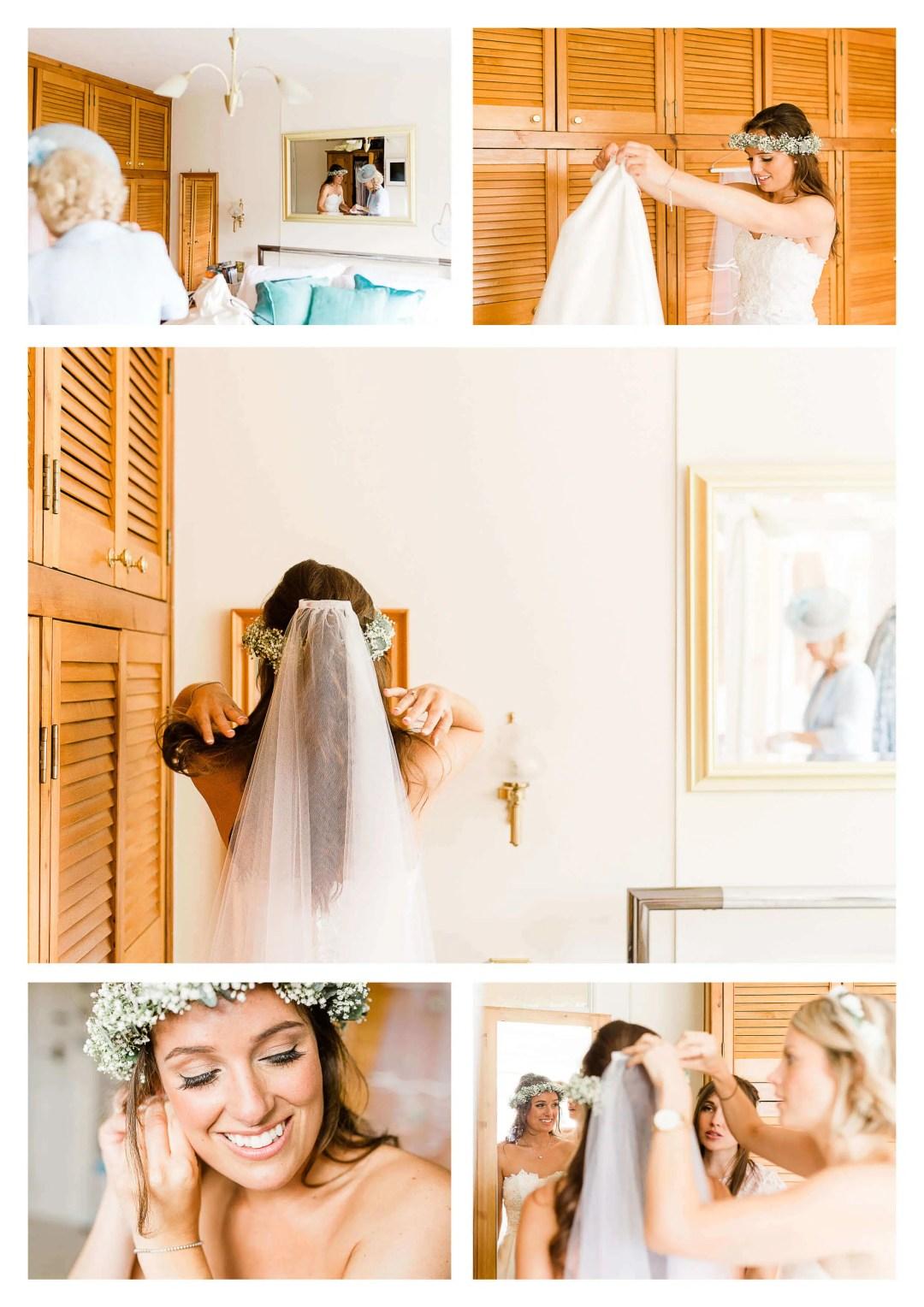 Bride getting ready photography in Haywards Heath