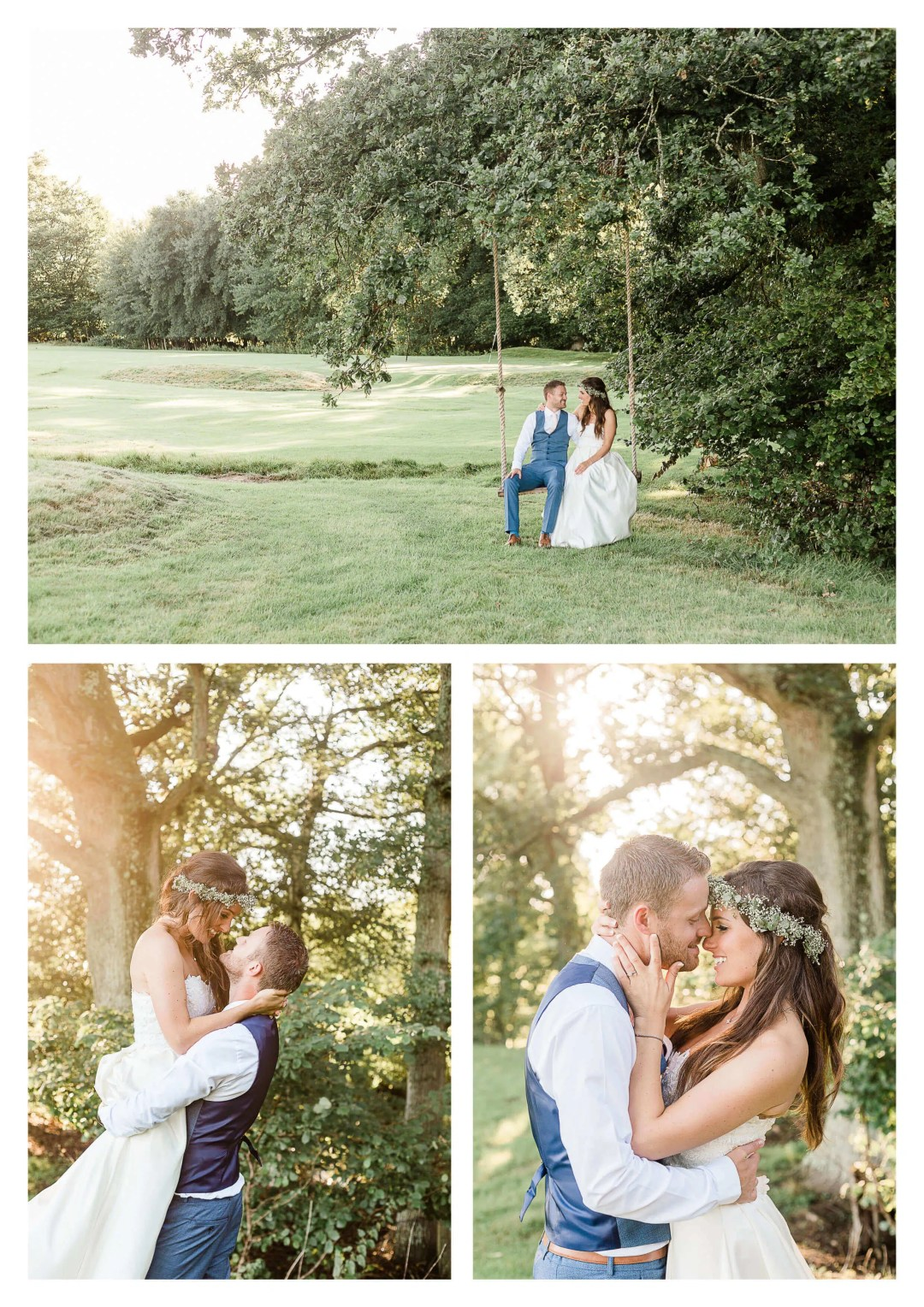 Brookfield Barn swing wedding photography | Horsham photographer