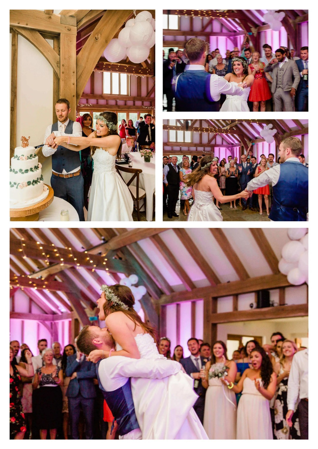 Couple's first dance at Brookfield Barn wedding photography