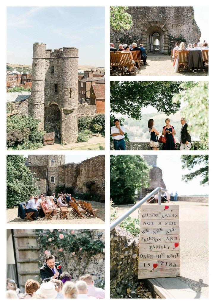 Lewes Castle wedding venue ceremony | Brighton Wedding Photographer