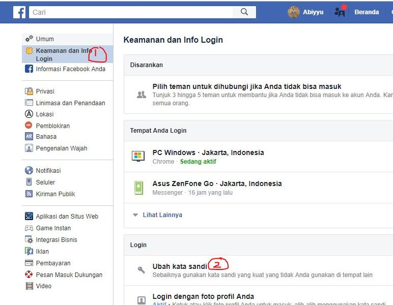 Cara Merubah atau Ganti Password Facebook