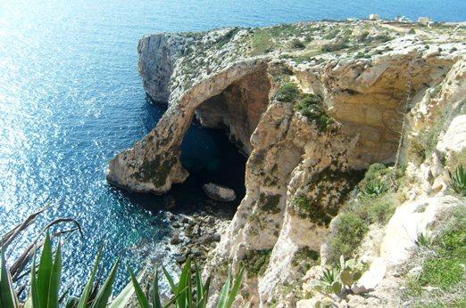 Blue Grotto dan Hagar Qim, Malta