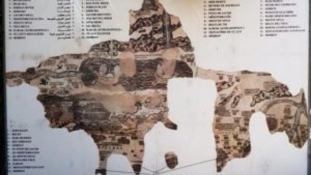 Mengintip Peta Kuno Tanah Suci Palestina di Madaba
