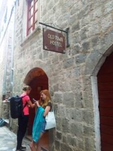 Facade old town hostel Kotor