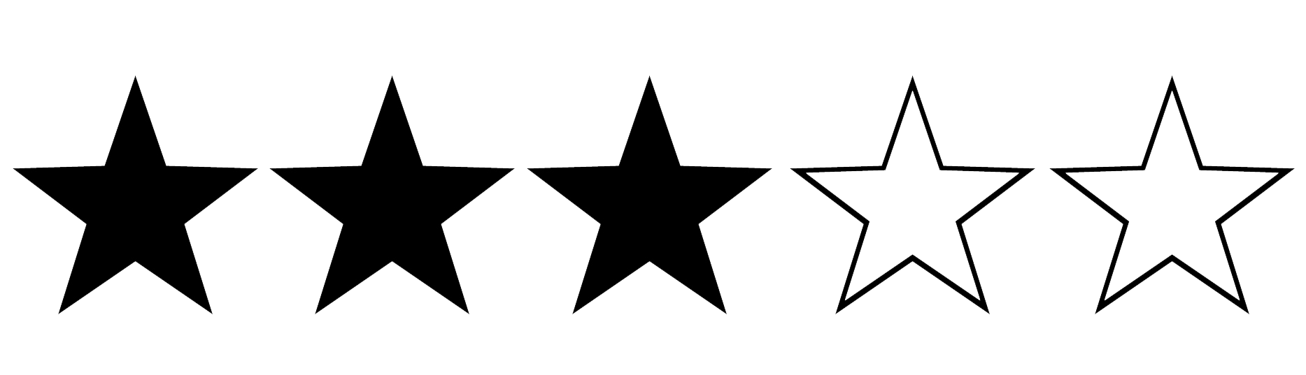 Image result for three out of five stars