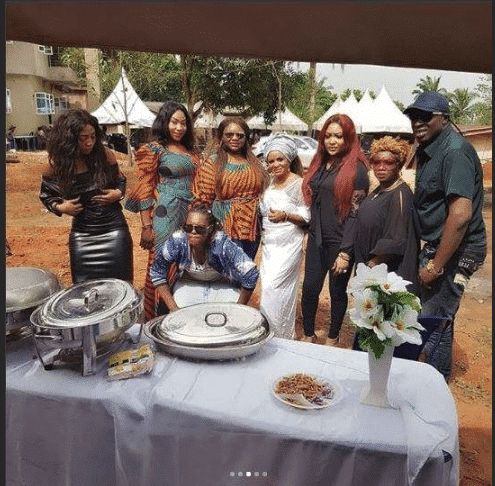 Actress Cossy Orjiakor gives dad a befitting burial