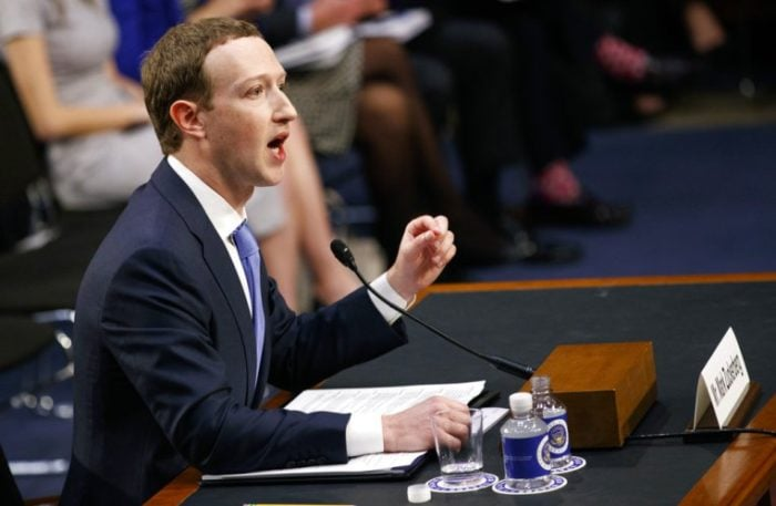 Zuckerberg testifies before a joint hearing of the Commerce and Judiciary Committee of the U.S. Senate e1525214300329 - Facebook suffers $119billion loss