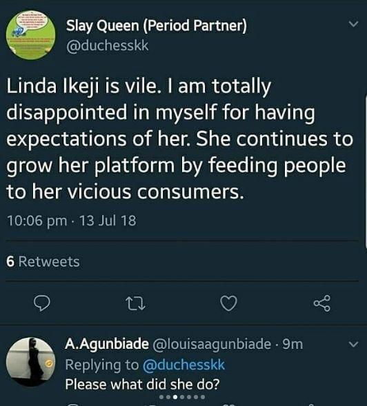 Naija Twitter Blast Linda Ikeji For Her Blog Post