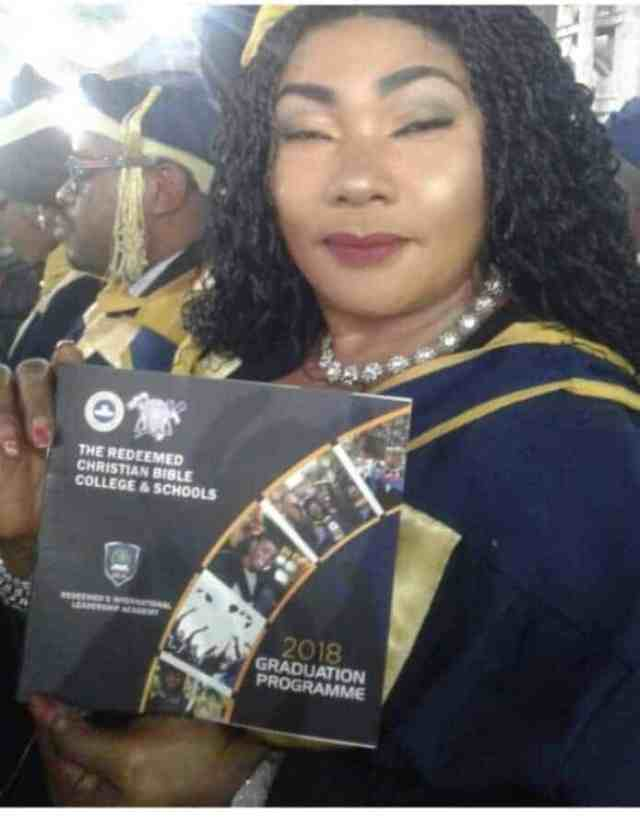 Eucharia Anunobi graduates from the Redeemed Christian Bible College