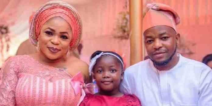 Kemi Afolabi, her daughter and husband