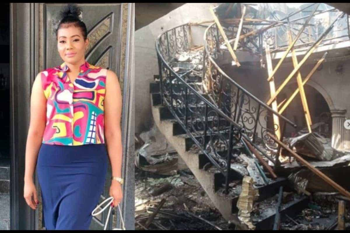 Nkiru Umeh slams government for not compensating them for Abule Ado gas fire - Kemi Filani