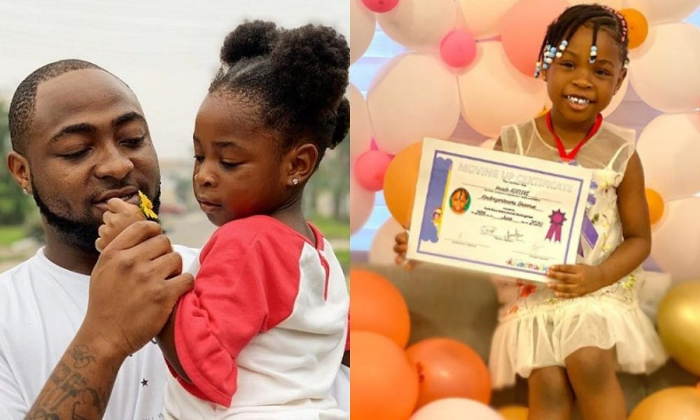 Davido buys his daughter, Imade a gift as she graduates from Kindergarten to Nursery class | Pictures - Kemi Filani