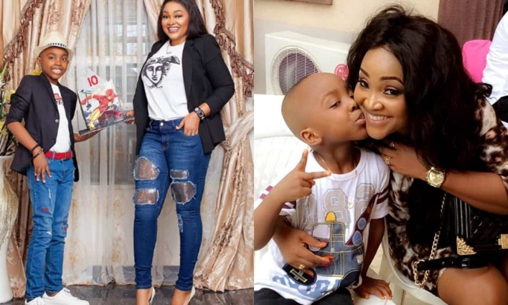 'You are my bottom pot' - Mercy Aigbe declares as her son, Juwon clocks 10 - Kemi Filani