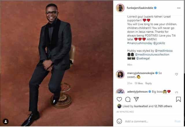 Funke Akindele eulogize her husband