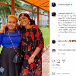 Mercy Aigbe, an actress, lavishes affection on her sister as she celebrates her 50th birthday.