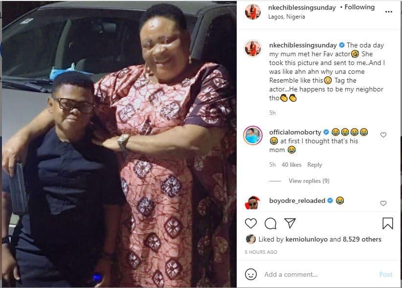 Nkechi Blessing's mom and Osita Iheme