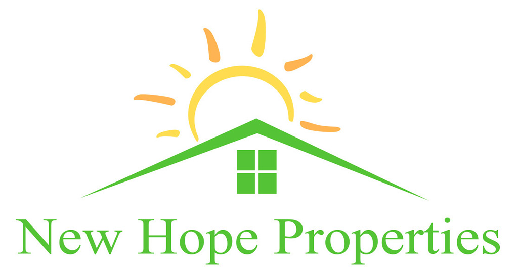 New Hope Properties logo designed by Kemp Design Services for investment property company