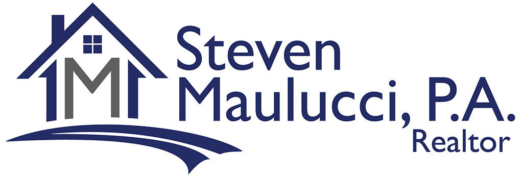 Steven Maulucci P.A. Realtor Logo, Realtor logo, Realty logo, Real Estate Logo, House Logo, M Logo,