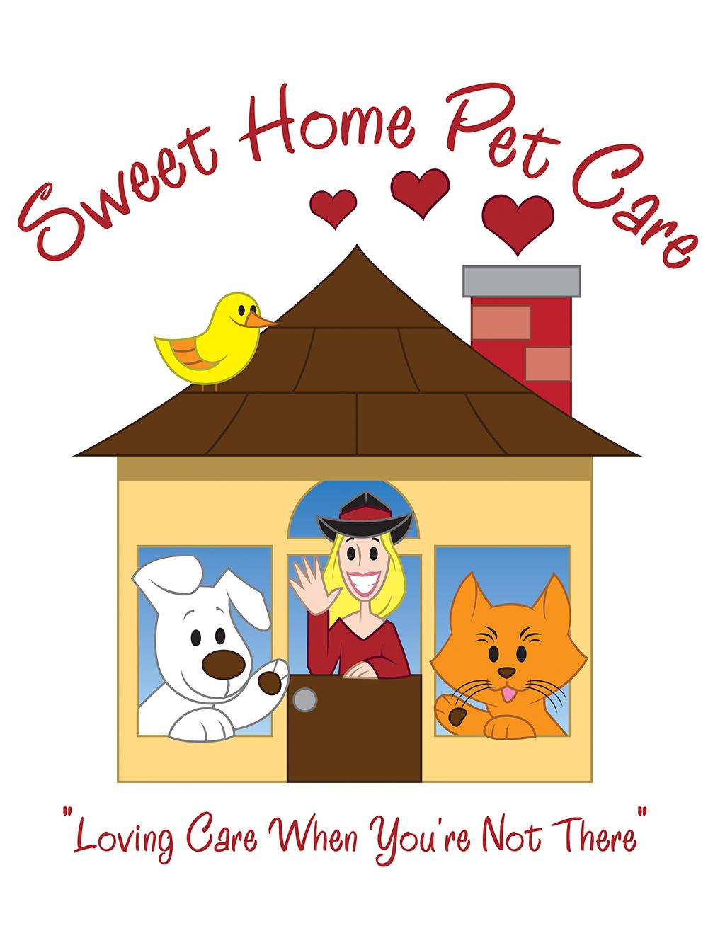 Pet Sitter Logo, House logo, Dog logo, Cat logo, cute logo, cartoon logo,