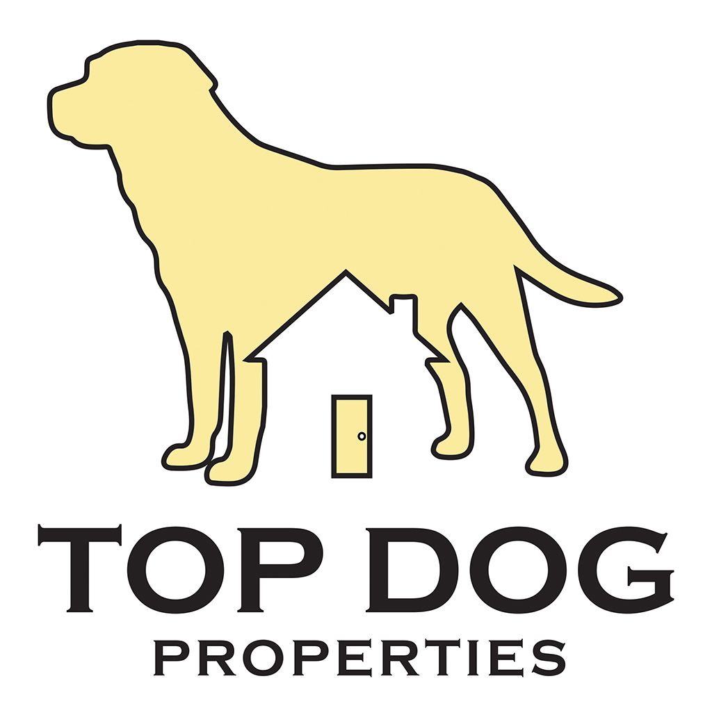 Top Dog Properties Logo, House Logo, Dog Logo