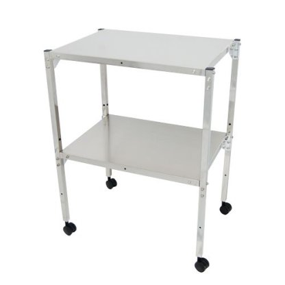 MRI Non-Magnetic Utility Table with Two Shelves