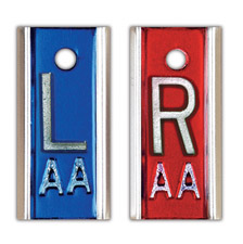 "R & L 5/8"" X-ray Film Markers - Red / Blue"