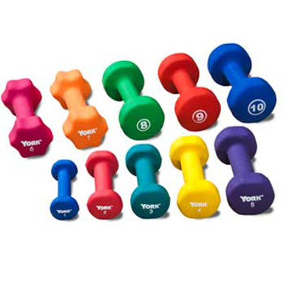 Neoprene Coated Dumbbells - Set of 20 - 1 lb to 10 lbs