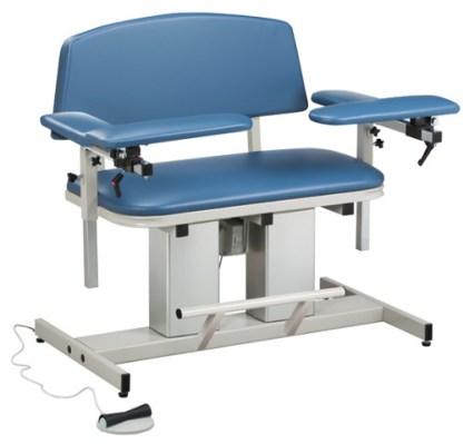 Power Series Bariatric Blood Draw Chair with Padded Arms