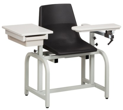 Standard Lab Series Blood Draw Chair with Flip Arm & Drawer