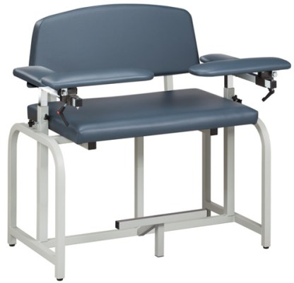 Lab X Series Bariatric Extra Tall Blood Draw Chair w/Padded Arms